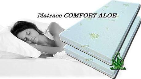 Matrace comfort Aloe dle vašeho gusta. Na výběr z různých rozměrů a tvrdostí H3 a H4.