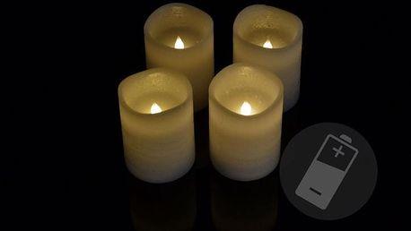 Nexos 33487 Dekorativní LED sada - 4 adventní svíčky - bílá