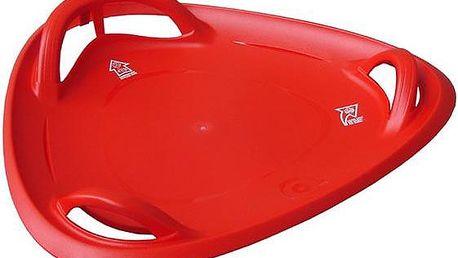 Meteor 60 talíř sáňkovací - červený
