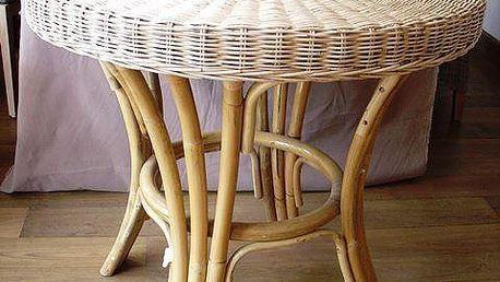 EXOTICA TP ratanový stůl průměr 74 cm - white pulut