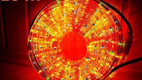 Světelný kabel 10 m - barevná, 360 minižárovek