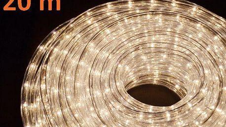 Světelný kabel 20 m - teple bílá, 720 minižárovek