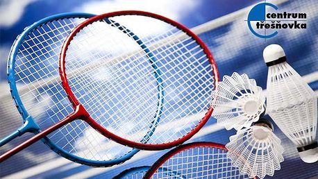 Pronájem badmintonového hřiště na 60 minut v Centru Třešňovka v Praze