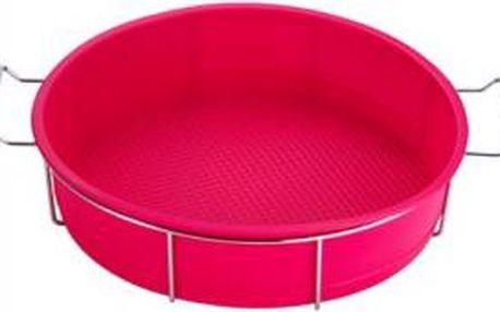 Forma na dort silikonová ve stojanu 25 x 6cm, růžová RENBERG RB-3660ruzo