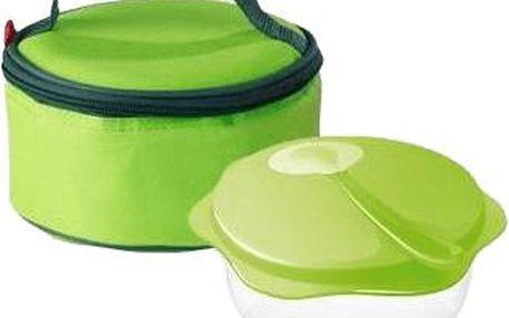 TESCOMA Cestovní miska se lžičkou v termobrašně – zelená
