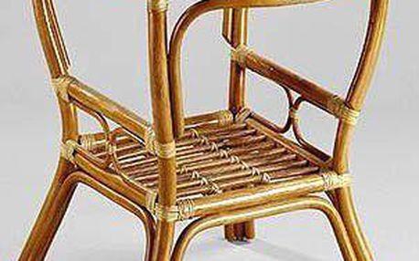 PELANGI ratanový stůl kulatý výplet - tmavý med