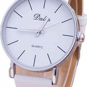 Jednoduché hodinky pro dámy - bílá barva - dodání do 2 dnů