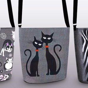 Pestrobarevné ekologické kabelky z PET lahví