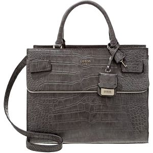Guess Cate Croc Handbag Smoke