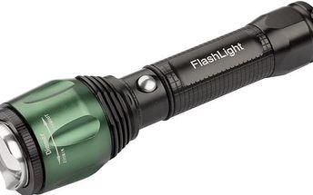 LED svítilna TD 314 - Celokovová, voděodolná s funkcí zoom.