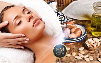 90min. kosmetické ošetření pleti + masáž obličeje, krku, dekoltu, šíje a trapéz