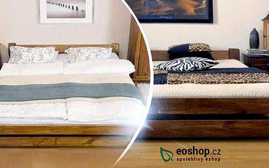 Postel bruno: rošt a možnost pěnové matrace. 5 rozměrů postele, 2 výšky matrace a 3 moření