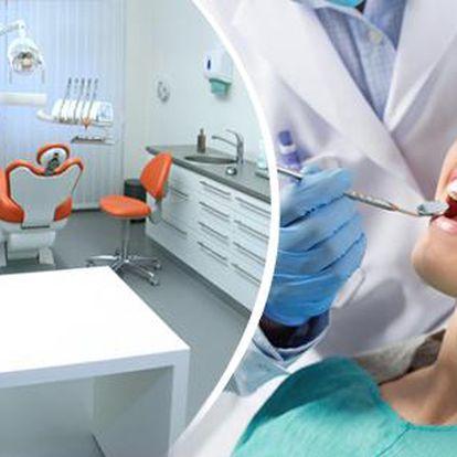 Kompletní dentální hygiena + fluoridační lak a možnost bělení zubů i preventivní prohlídky