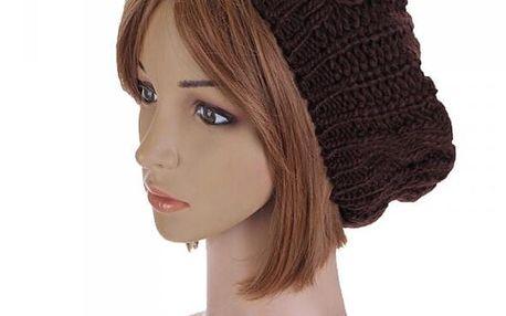 Dámská pletená zimní čepice v mnoha barvách - poštovné zdarma