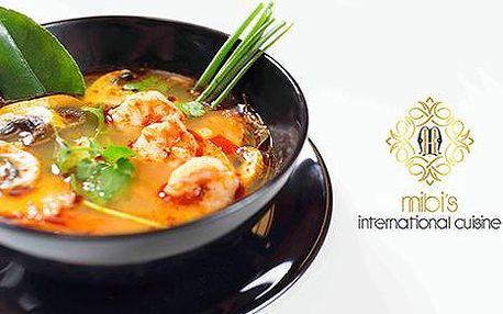 35% sleva na jídelní lístek a nápoje v asijské restauraci Mibi's International Cuisine