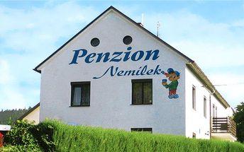 3–6denní sportovní pobyt pro dva na Šumavě v penzionu Nemílek