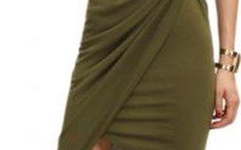 Dámské asymetrické šaty Army Green