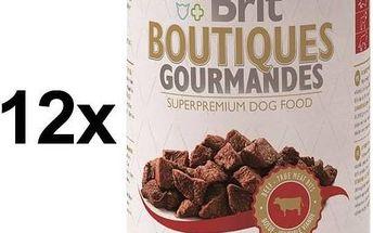 Brit Boutiques Gourmandes Beef True Meat Bits 12 x 400g