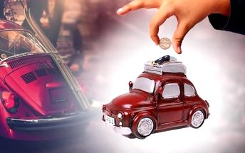 Pokladnička ve tvaru auta