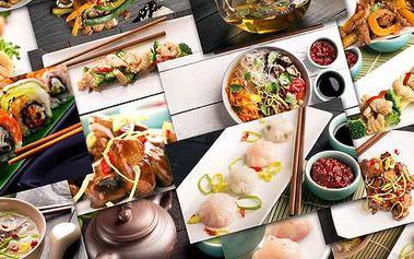 50% sleva na jídelní lístek včetně sushi v restauraci Shun Feng na Karlově náměstí