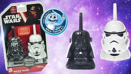 Star Wars vysílačky Darth Vader a Storm Trooper pro rychlé předávání zpráv, na hraní na doma i ven