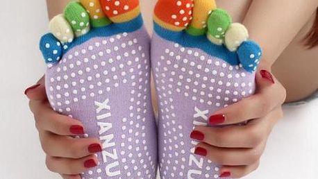Prstové ponožky na jógu
