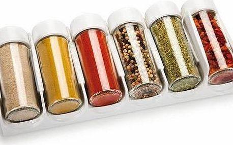 Souprava 6 skleněných kořenek s plastovými uzávěry Tescoma Season