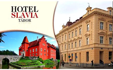 Ubytování v Hotelu a kavárně Slávia Tábor pro dva a 2 děti do 9 let zdarma