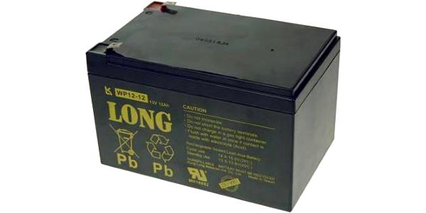 Avacom 12V 12Ah F2 (PBLO-12V012-F2A) černá