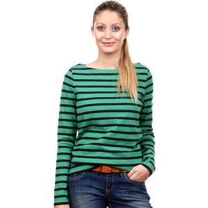 Dámské tričko Gant, pruhované, zelené