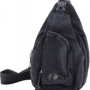 Pánská taška přes rameno - černá barva - skladovka - poštovné zdarma