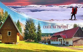 Šumava, Chata Na Papírně až na 5 dní pro dva + polopenze a možnost pobytu na Vánoce/silvestra