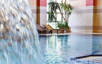 Polské lázně Kudowa-Zdrój s bazénem, saunou a polopenzí pro DVA v 4* hotelu