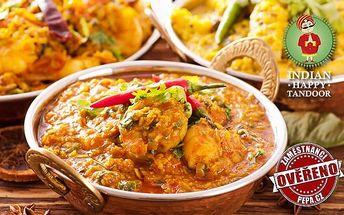 Konzumace jídla v hodnotě 500 nebo 800 Kč v indické restauraci v Praze