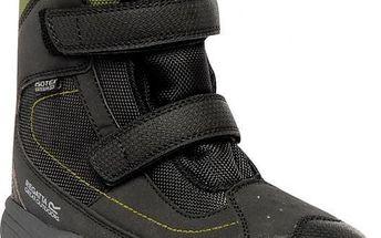 Zimní obuv Regatta RKF369 BLITZER Jnr Black/DkSprg