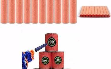 Měkké náboje do dětské pistolky - 100 ks