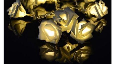 Dekorační LED osvětlení - růže - 20 LED, teplá bílá Sleva 130 Kč
