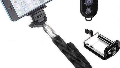 Selfie tyč s bluetooth dálkovým ovládáním - dodání do 2 dnů