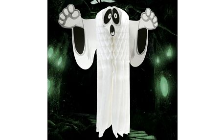 Papírová dekorace Duch 55 cm Halloween