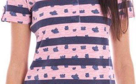 Dámské polo tričko Gant, modro-růžové