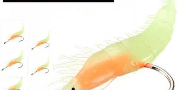 Svítící rybářská návnada - kreveta - 60 mm