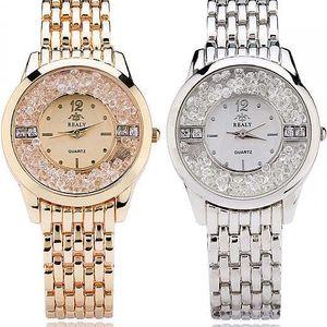 Luxusní dámské hodinky v kovovém provedení - 2 barvy