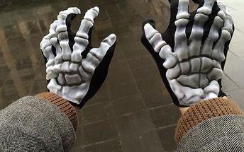Unisex rukavice s motivem kostry - poštovné zdarma