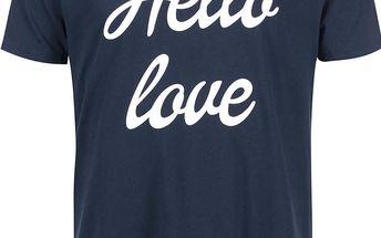 Modré pánské tričko ZOOT Originál Hello Love