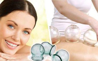 Baňková masáž - odstraní bolesti páteře a pohybového aparátu. Příznivě ovlivní také funkci vnitřních orgánů a lymfatického systému. Při masáži se netvoří modřiny.