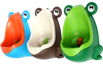 Dětský pisoár v podobě žabičky - 3 barvy