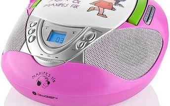 GoGEN Maxipes Fík MAXI RADIO P, CD/MP3/USB růžový
