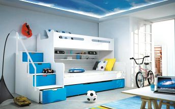 Prvotřídní dětská patrová postel Max 3