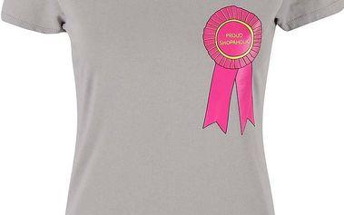 Šedé dámské tričko ZOOT Originál Shopaholic
