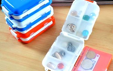 Cestovní box na vitamíny nebo i šperky - poštovné zdarma